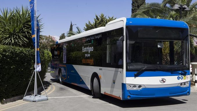 The self-disinfecting buses produced by the ginner hit southern Cyprus