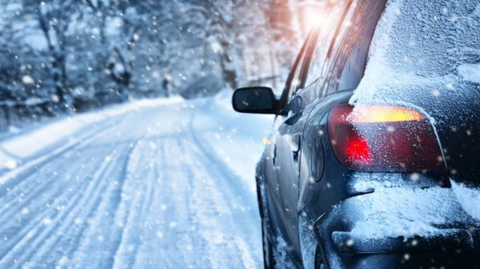 warning drivers from intercity driving academy for snowy and cold weather