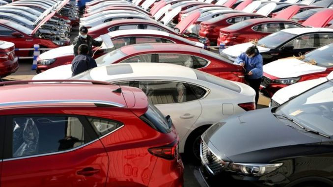 Automobile sales broke a record in February