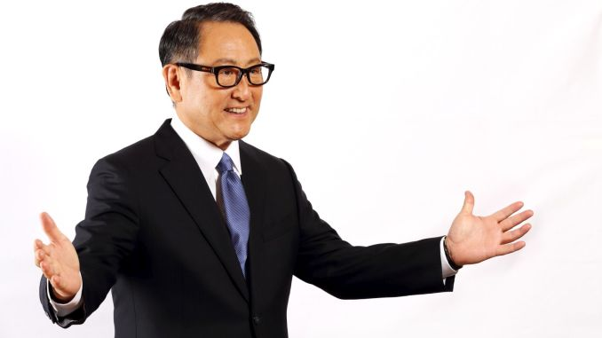 The world car of the year akio toyoda was named humane