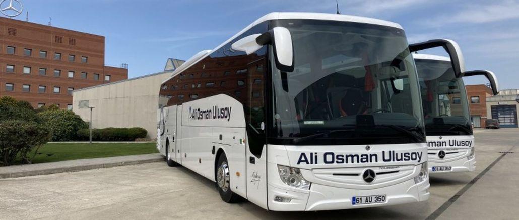 ali osman ulusoy travel ha ricevuto il primo veicolo dell'ordine di autobus mercedes benz