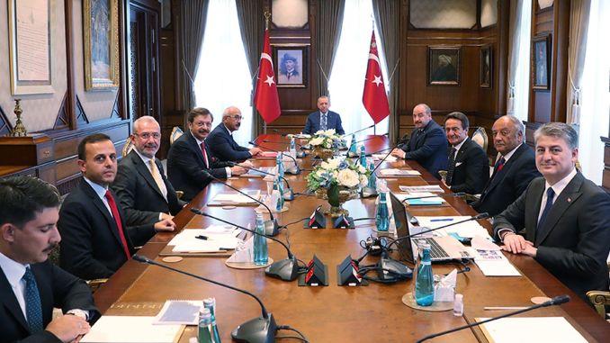 Ο πρόεδρος Ερντογάν Τογκ συναντήθηκε με τα μέλη του διοικητικού συμβουλίου