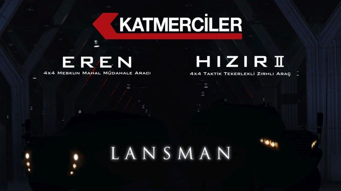 Katmerci's new armored vehicles eren and hizir will be introduced for the first time at the target