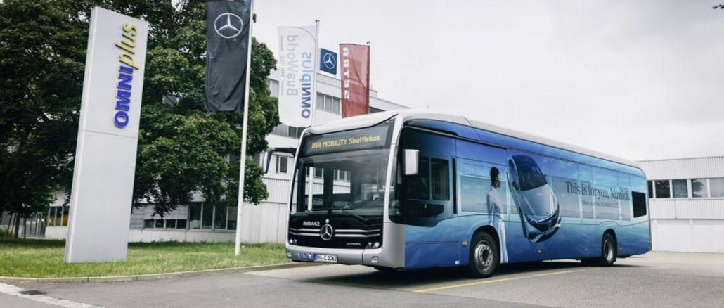 mercedes benz ecitaro iaa mobilitet gav också utsläppsfri transport