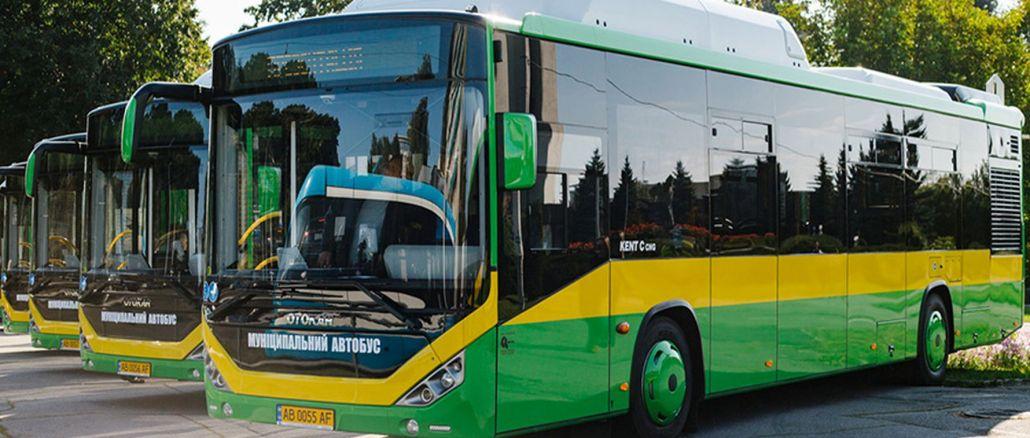 משלוח עירוני גז טבעי מאוטובוס לאוקראינה