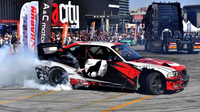 the capital hosted the drift and automobile festival
