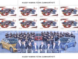 I francobolli appositamente progettati viaggeranno per il mondo prima dell'automobile domestica