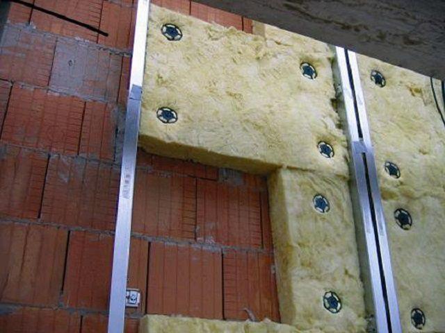 Réchauffement du verre de mur extérieur