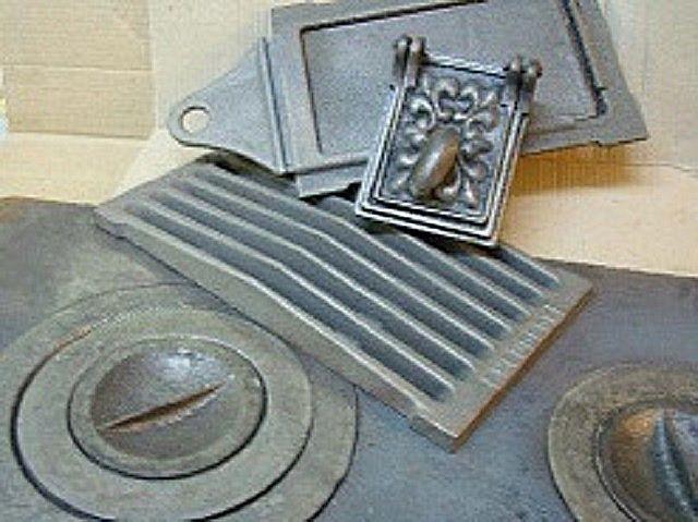 Gjutjärnskomponenter för byggnadsugn