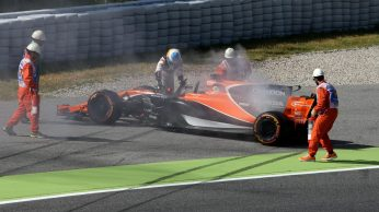 Spanish Grand Prix – McLaren Engine Failure