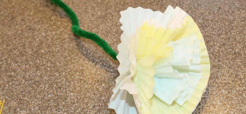 paper flower - flower side