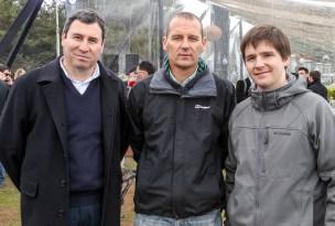 Patricio Durán, Cristián Spratz y Jaime Crespo