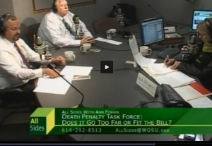 Discussion Over Death Penalty Task Force on WOSU – All Sides With Ann Fisher