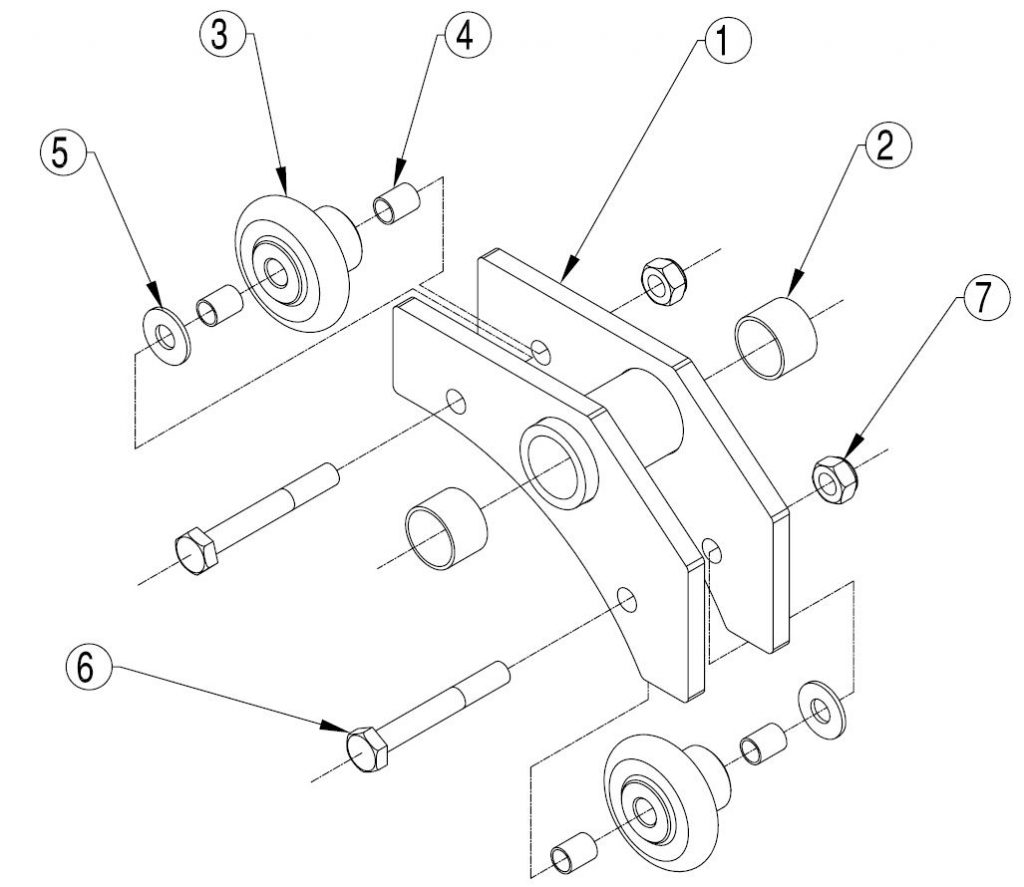 Figure 9 7b D Frame Rope Guide Assembly
