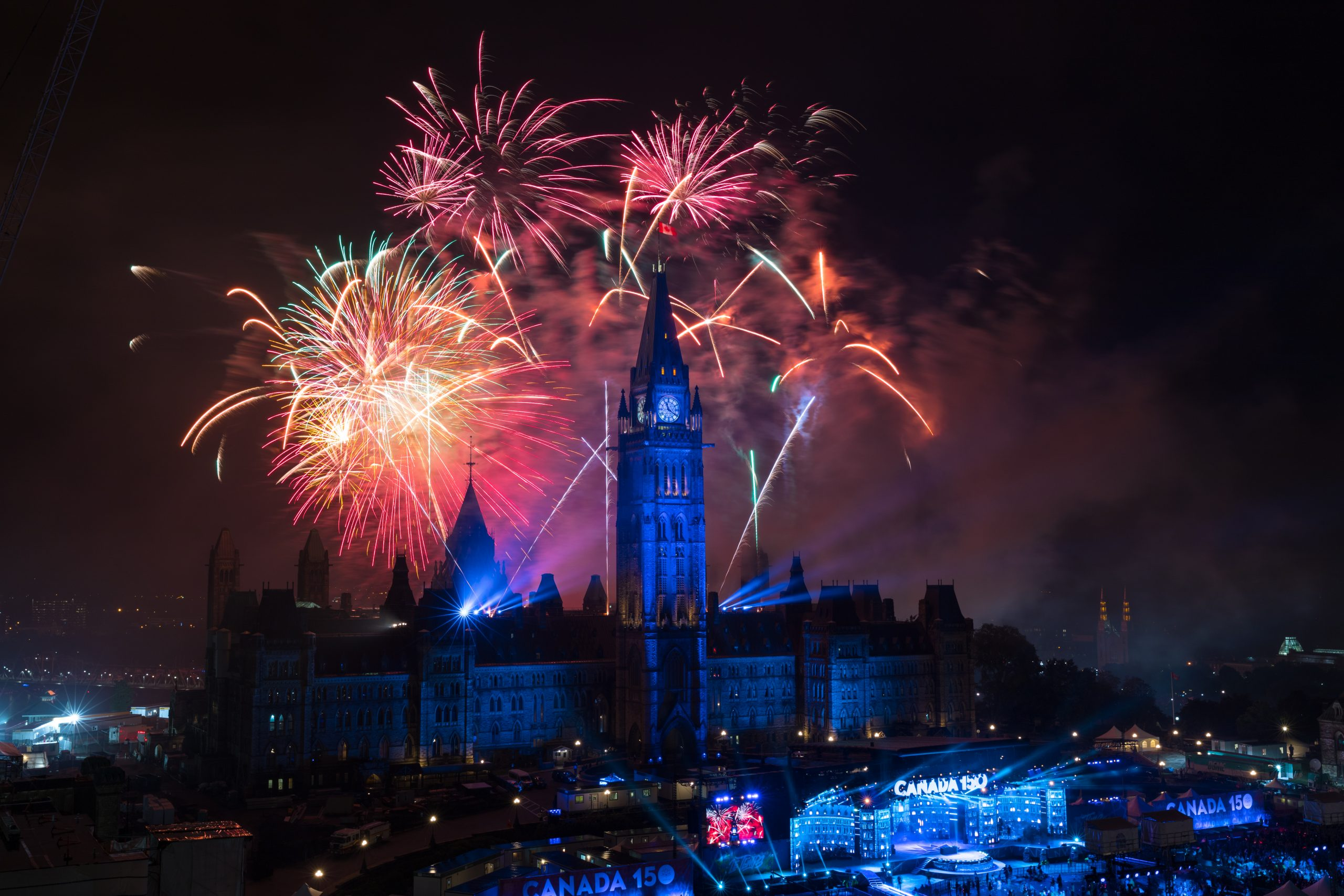 Canada Day Fireworks Parliament Hill