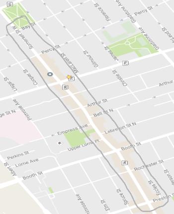 Chinatown BIA boundary map