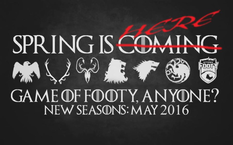 game of thrones crests footy 2016