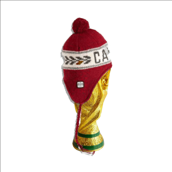 World Cup torphy with Canada Touque