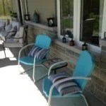 Tiffany Blue Vintage Loungers