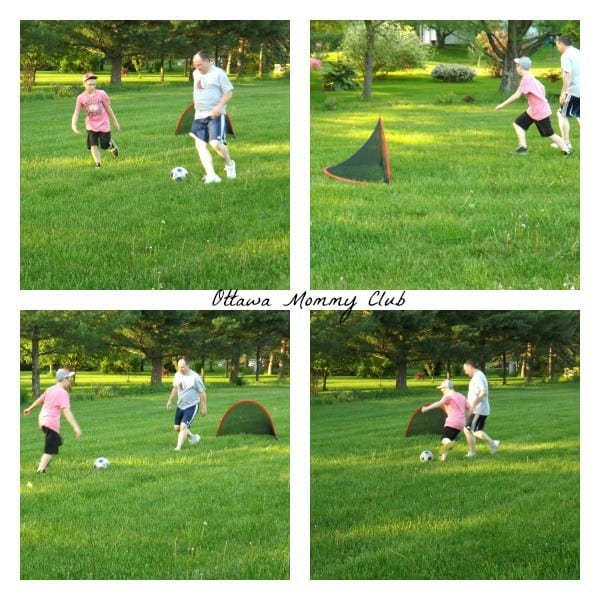 Fun Family Outdoor sport: soccer