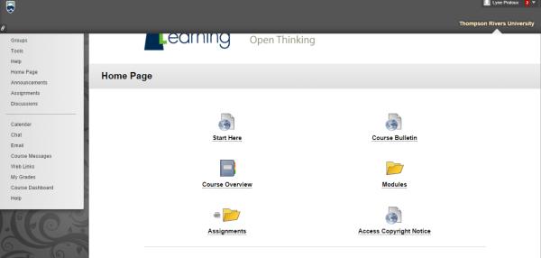 homepage of my course (Medium)