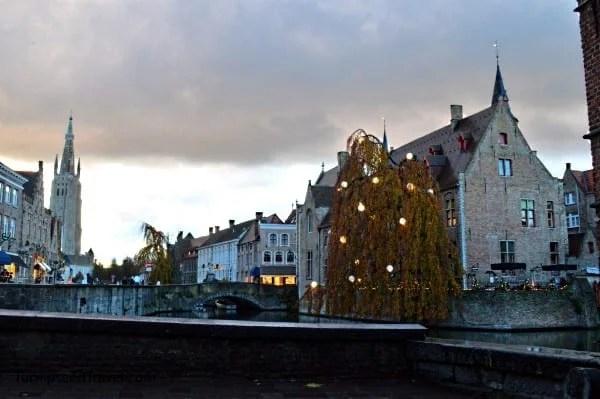 Bruges at sunset