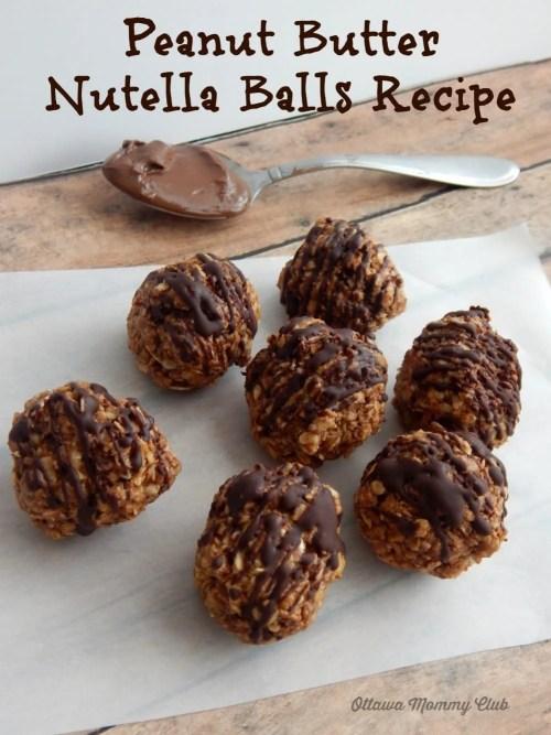 Peanut Butter Nutella Balls Recpe
