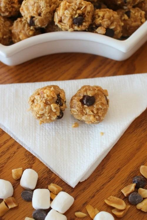 Rocky Road Peanut Butter Snack Bites Recipe