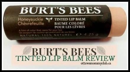 Burts Bees Tinted Lip Balm Review