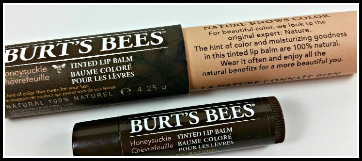 Burts Bees Tinted Lip Balm Review (tube)