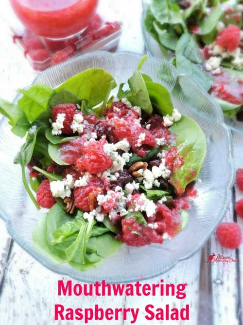 Mouthwatering Raspberry Salad