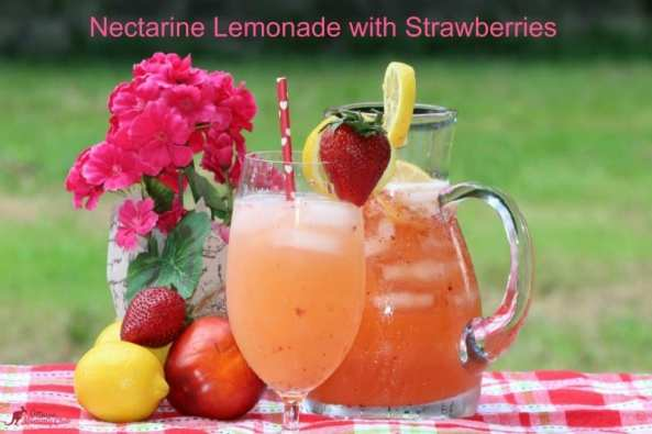 Nectarine Lemonade with Strawberries Recipe