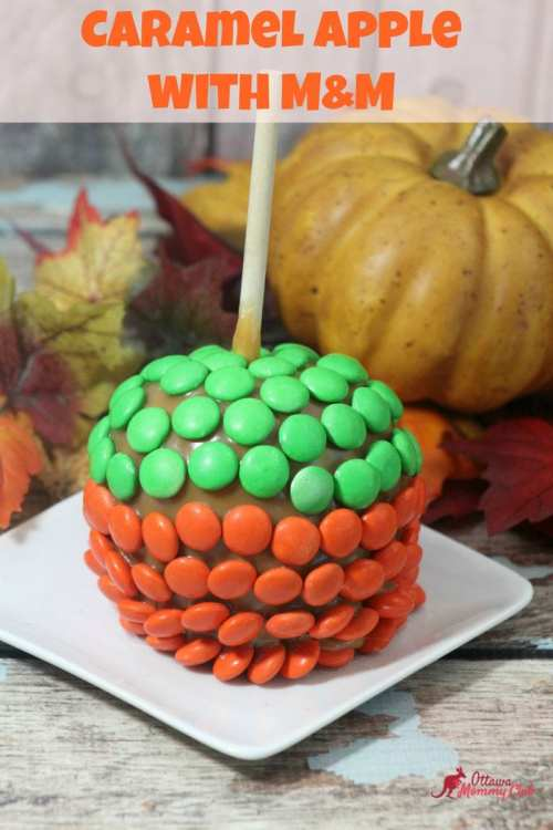 Caramel Apple with M&M Recipe