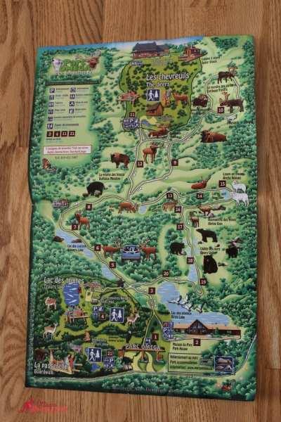 Parc Omega Map