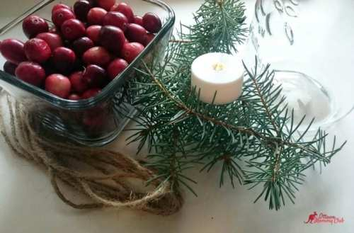 Super Easy Mason Jar Christmas Candle DIY material