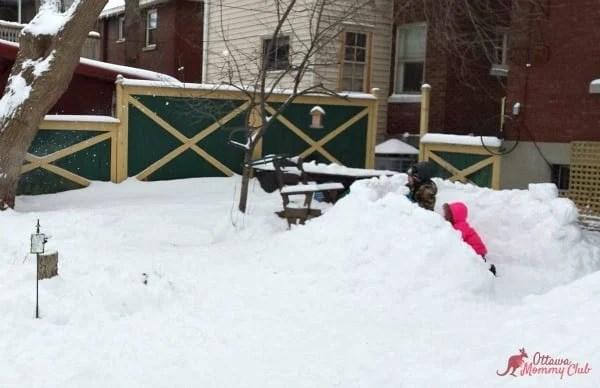 Reese Speaks Snow Fort Fun Ottawa Mommy Club