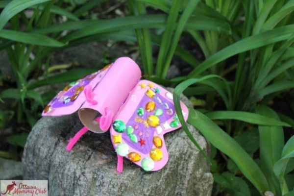 Ottawa Mommy Club Butterfly Craft Maya Finished Garden 1 2 Photo