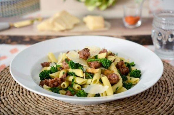 Turkey Sausage and Rapini Pasta Recipe