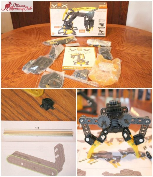 Ottawa Mommy Club HEXBUG Arm Build Collage Photo