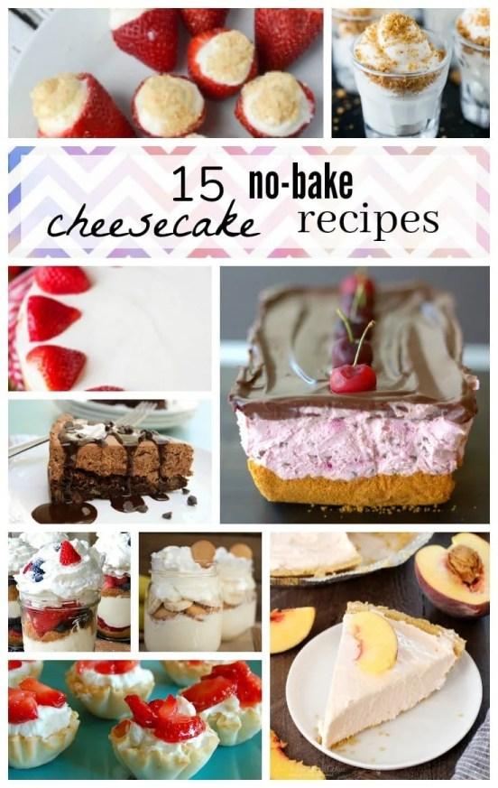 15 No Bake Cheesecake Recipes