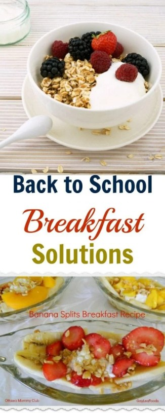 Back to School Breakfast Solutions - The Most Important Meal of the Day