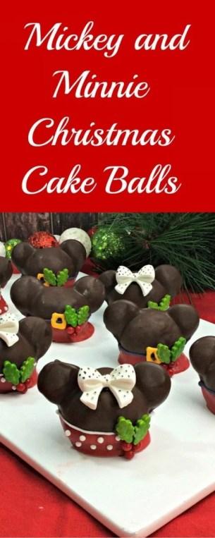 Adorable Mickey and Minnie Christmas Cake Balls Recipe