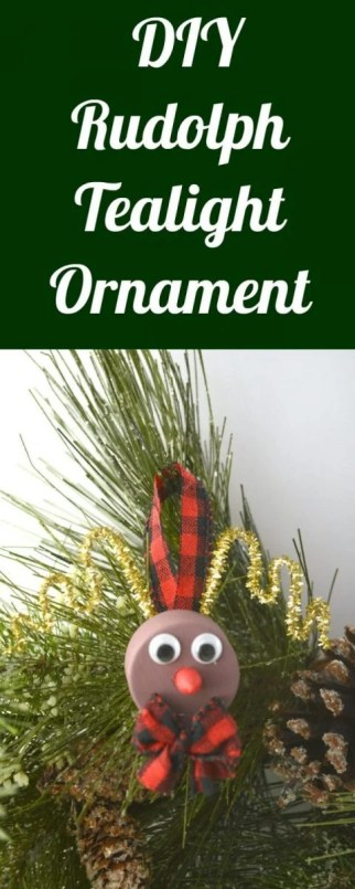 DIY Rudolph Tealight Ornament