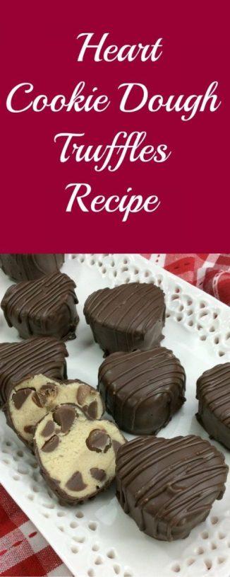 Heart Cookie Dough Truffles Recipe