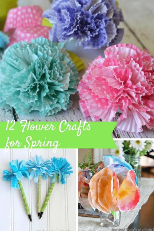 12 Flower Crafts for Spring