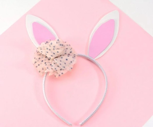 Super Easy DIY Bunny Headband For Kids