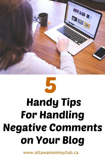 5 Handy Tips For Handling Negative Comments on Your Blog