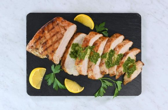 Brazilian Style Grilled Turkey Breast with Salsa Verde recipe