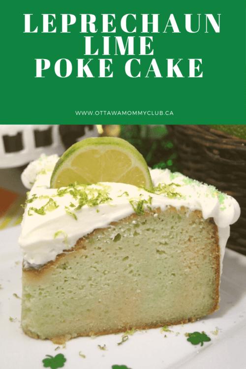 Leprechaun Lime Poke Cake