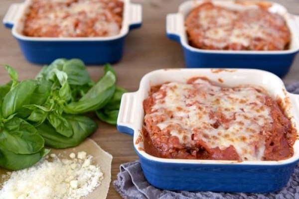 Oven Baked Turkey Eggplant Parmesan Recipe